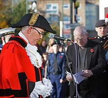 Remembrance Service Orpington Kent, The Deputy Mayor of Bromley Ian Payne by Keith Larby