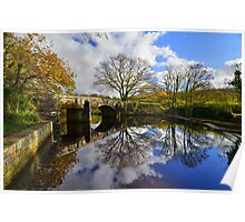 Dartmoor: Autmun Reflections at Hill Bridge Poster