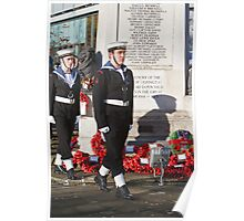 Royal Navy cadets at the Remembrance Service In Orpington Kent Poster