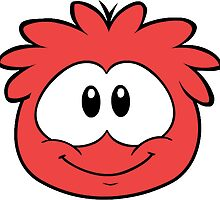 Red Puffle by charlo19