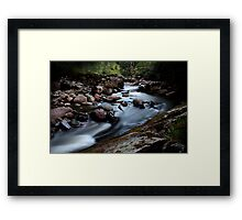Black wood stream 2 Framed Print