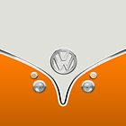 VW Camper Van Orange by Boback Shahsafdari