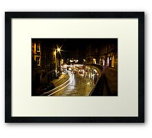 Victoria Street night Framed Print