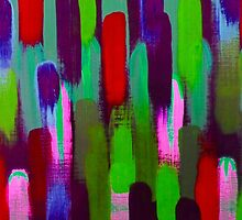 Red Green Abstract Brush Strokes by KeksWorkroom