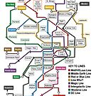 Geeks&#x27; Tube Map by ChoqueFrontal