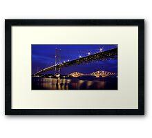 The Bridges at night Framed Print