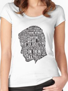 Mr Robot Quotes Women's Fitted Scoop T-Shirt