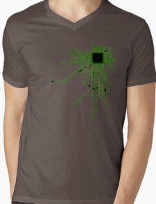 CPU Heart 2 Mens V-Neck T-Shirt