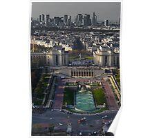 Le Trocadero & La Défense Poster