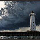 Stormy Day at the Light by Mikell Herrick