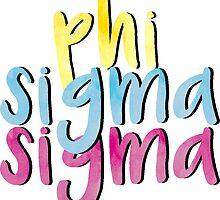 Phi Sigma Sigma by sophhsophh