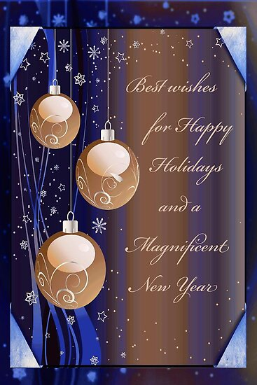 Best Wishes for Happy Holidays by Vickie Emms