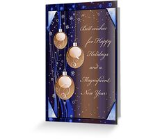 Best Wishes for Happy Holidays Greeting Card