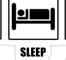 Eat Sleep Kill Zombies Sticker