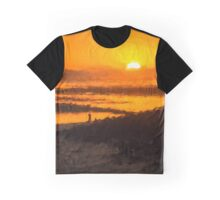 South Beach Sunset Graphic T-Shirt