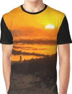 South Beach Sunset (RVR) Graphic T-Shirt