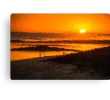 South Beach Sunset (RVR) Canvas Print