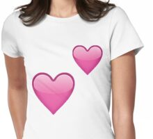 Double Heart Womens Fitted T-Shirt