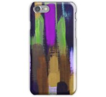 Purple Green Brown Lines Brush Strokes Abstract iPhone Case/Skin