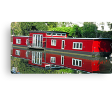 Reflection in Regent Canal Canvas Print