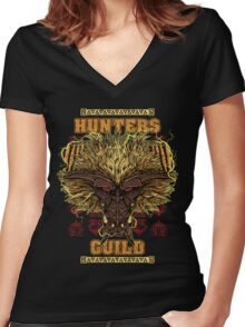 Hunters Guild - Rajang Women's Fitted V-Neck T-Shirt