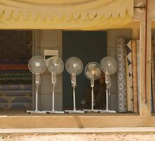 Electric fans in Senegal by Sue Robinson