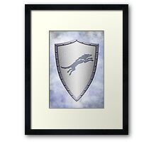 Stark Shield - Clean Version Framed Print