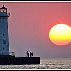 August Sunset at the Light by Mikell Herrick