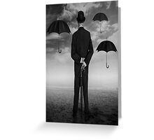 Magritte Style Greeting Card