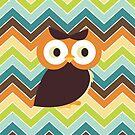 Owl {chevron} iPhone Case by sweettoothliz