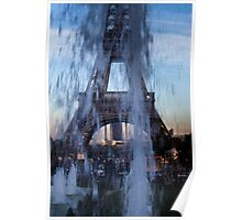 Trocadero fountains Poster