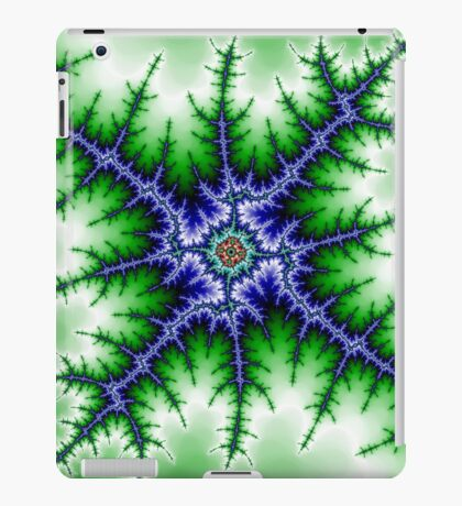 Blue Green Mandelbrot 1 iPad Case/Skin