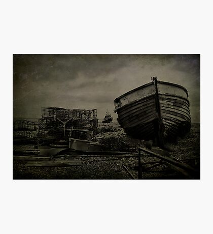 Boat Wreck And Pots Photographic Print