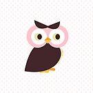 Owl {polka dots} iPad Case by sweettoothliz