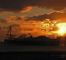 Brighton Pier Sunset by Sue Robinson