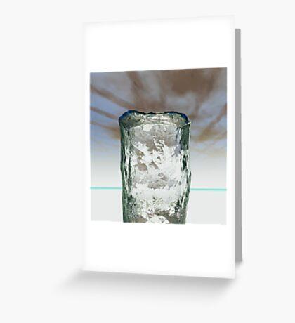Column of Ice Greeting Card