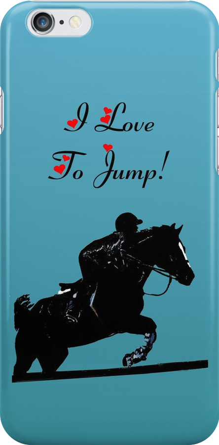 I Love To Jump! Horse iPod & iPhone Cases by Patricia Barmatz