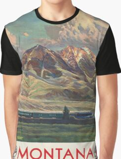 Vintage poster - Montana Graphic T-Shirt