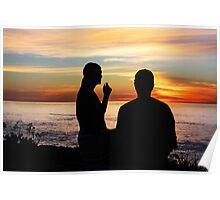 Conversation At Sunset Poster