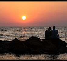 Together at Sunset by Mikell Herrick
