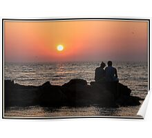 Together at Sunset Poster