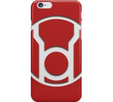Red Lantern Insignia (White) iPhone Case/Skin
