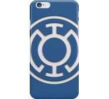 Blue Lantern Insignia (White) iPhone Case/Skin