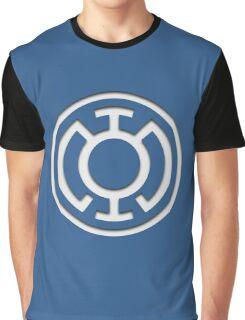Blue Lantern Insignia (White) Graphic T-Shirt