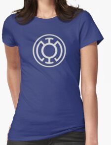 Blue Lantern Insignia (White) Womens Fitted T-Shirt