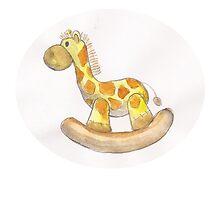 watercolor giraffe toy by s1lence