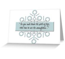 Northpole Inspired Sayings Greeting Card