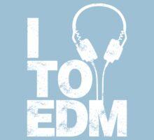 I Listen to EDM (white) Kids Clothes