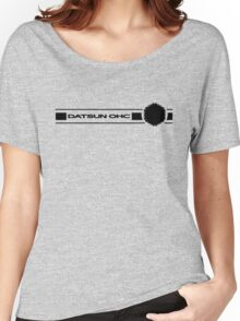 Datsun OHC (Black) Women's Relaxed Fit T-Shirt