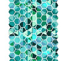 Glassed hexagons by TrappedTeal